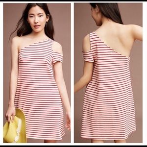 Anthro Maeve Marketa one shoulder dress, XS